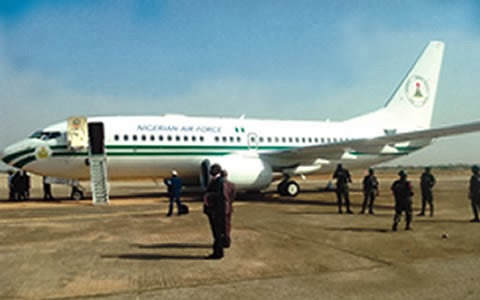 President Jonathan's N9bn jet develops technical problem in Minna