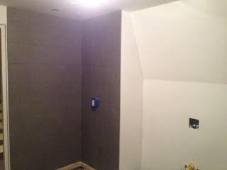 Douchewand zonder voegen