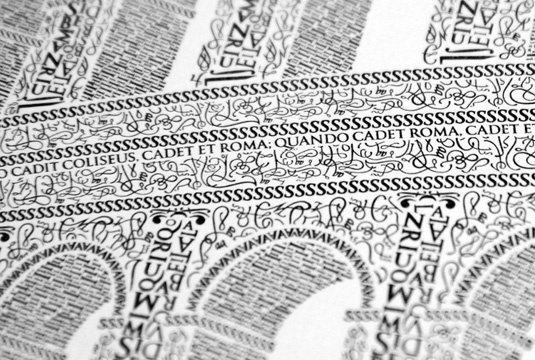 Impalcatura del testo: figura architettonica in lettere