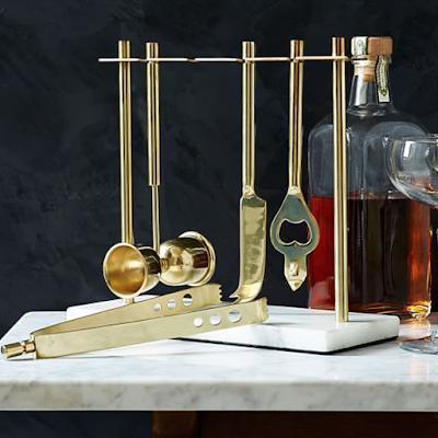 Brass kitchen inspiration via monicawantsit.com