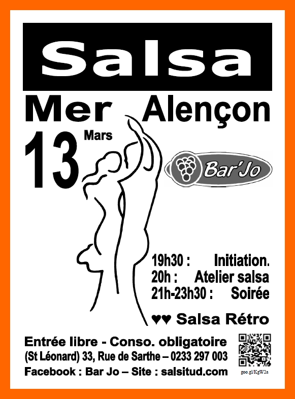 Salsitud la salsa au coeur d 39 alen on mer 13 mars for Chambre sociale 13 mars 2013