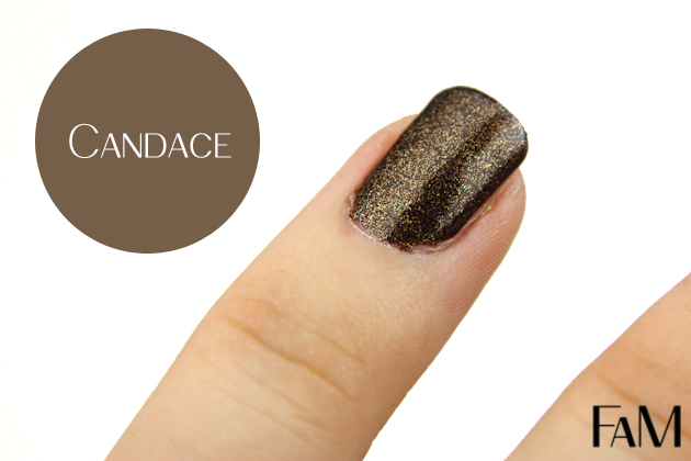 Julep Maven Nail Polish - Candace - It girl - Review and Swatches black and gold glitters nail polish