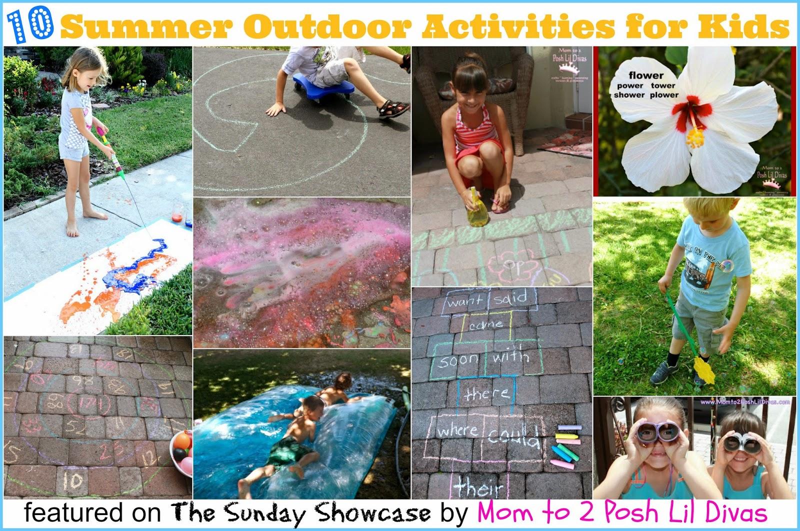 Mom To 2 Posh Lil Divas 10 Outdoor Summer Activities For Kids