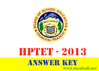 HPTET Answer Key 2013