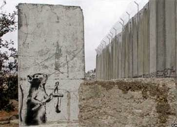 Banksy artwork on West Bank