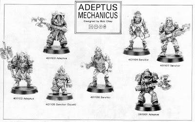 Catálogo de minituras del Adeptus Mechanicus