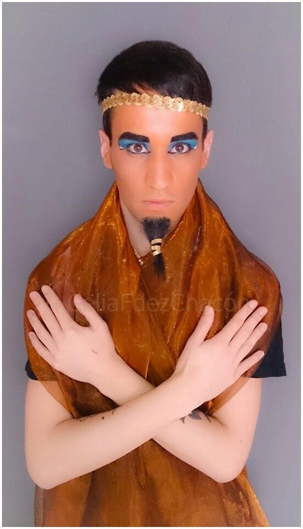maquillaje de faraon