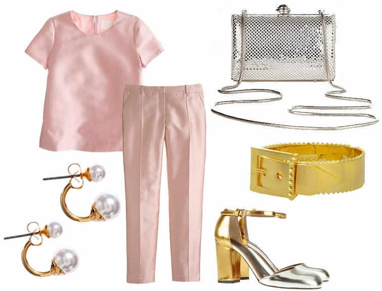NYE preppy J.Crew Eddie Borgo Sondra Roberts Marni Mary Janes ASOS earrings gold & silver