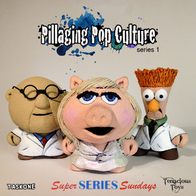 """Pillaging Pop Culture"" Custom The Muppets Blind Box Series Wave 2 by Task One - Dr. Bunsen Honeydew, Miss Piggy & Beaker"