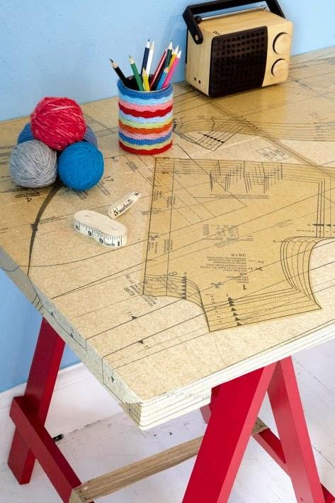 7 najciekawszych stołów decoupage - inspiracje! stół krawiecki decoupage.