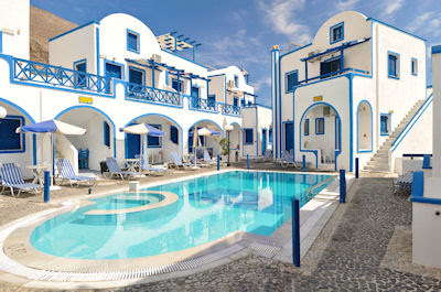 Hotel tradicional familiar en Grecia - Traditional family hotel in Perisa, Santorini, Greece.
