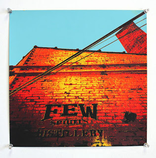 color sampling print, subject FEW Distillery