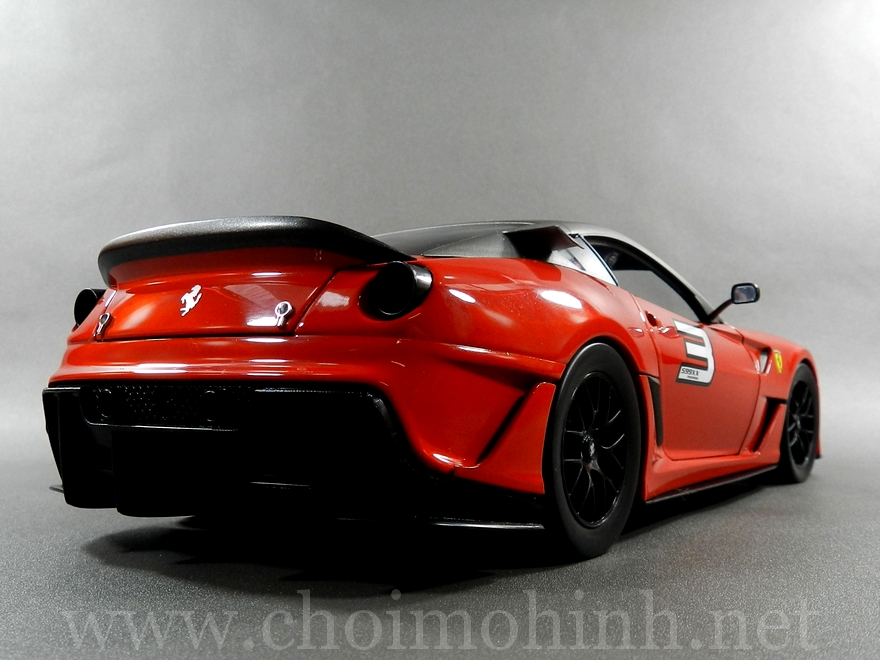 Ferrari 599XX 1:18 Hot Wheels side back