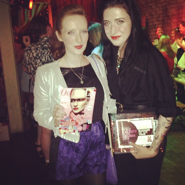 Bec Boop and Leanne Woodfull at OohLaLa Blog Awards 2013