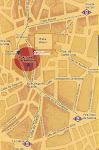 Plano de situación de la Plaza Conde de Barajas. Madrid
