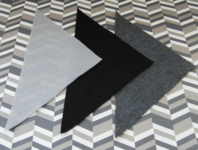 #geometric #felt #triangle #pattern