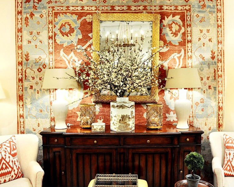 powell brower at home: Rugs as wall art
