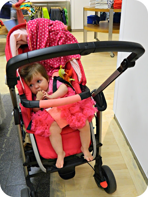 Baby Girl and the Origami Rose Maxi-Cosi Loola in Gap Manchester