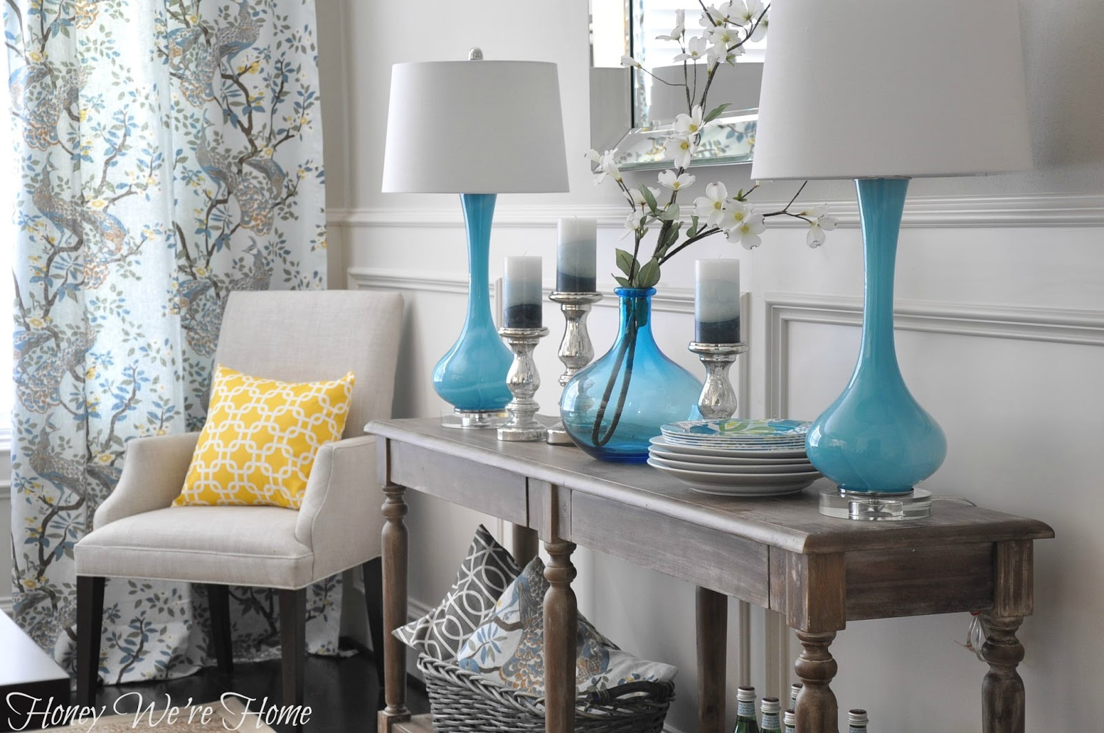 white foyer table. Dining Room Decor Updates // World Market Everett Foyer Table White B