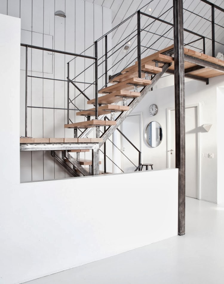 Minimalist and industrial staircase