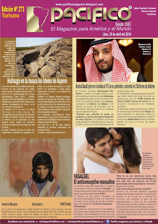 Revista Pacífico Nº 273 Turismo