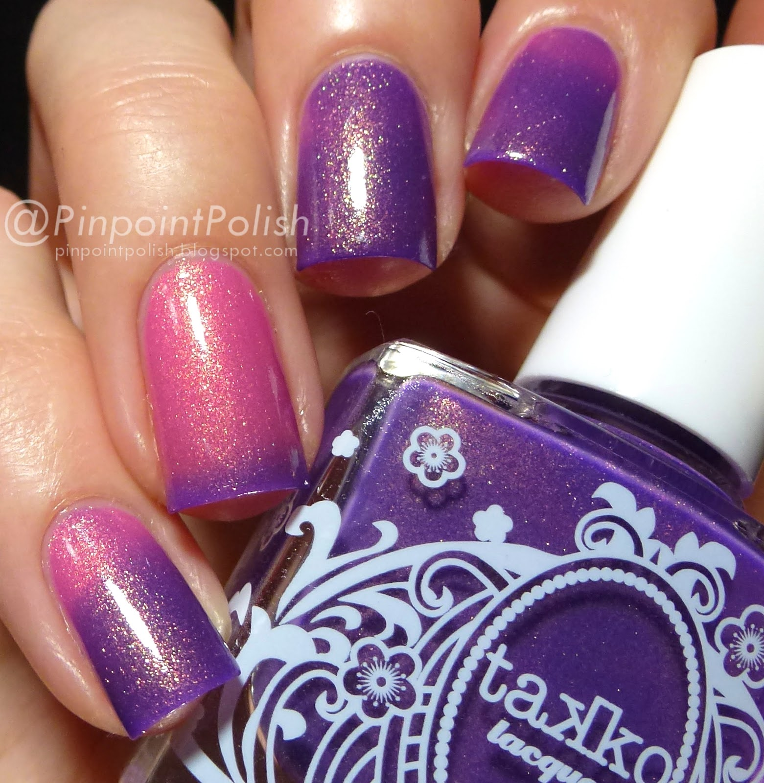 Cheshire cat, takko lacquer, swatch
