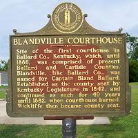 Blandville Historical Marker