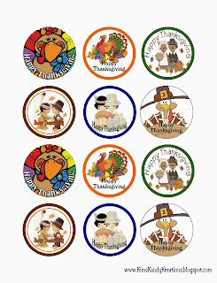 Thanksgiving Sticker Circle Printable by Kims Kandy Kreations