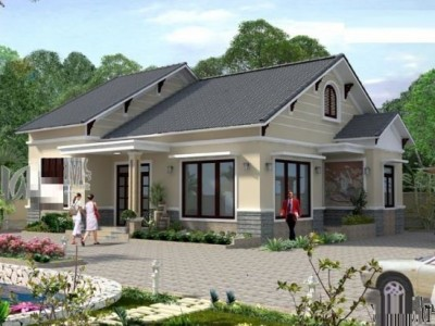 Tuyển chọn những mẫu nhà nông thôn 2 tầng kiểu dáng hiện đại