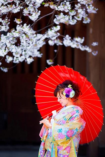 kimono japanese umbrella