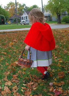 Vet School Widow: Little Red Riding Hood with Crochet Cape **Free Pattern** Toddler Halloween Costume