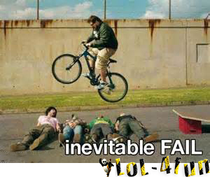 Jump with bike funny fail