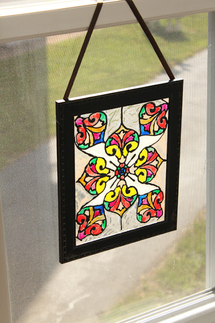 crafts lessons: faux stained glass tutorial