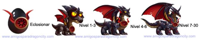 imagen del crecimiento del black knight dragon