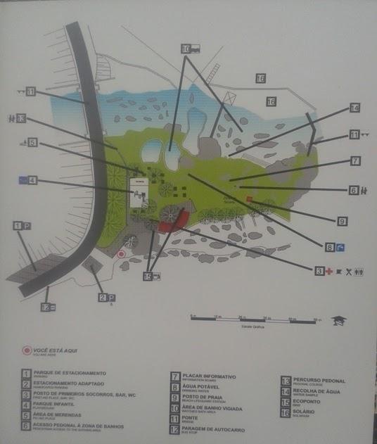 Mapa Praia Fluvial Loriga