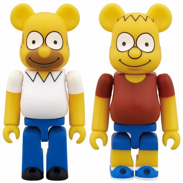 The Simpsons 100% Be@rbrick 2 Pack by Medicom - Homer & Bart