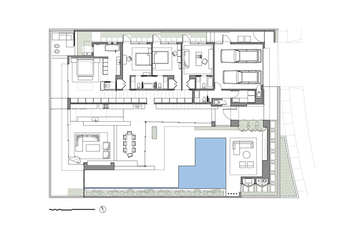 Floor plan in CORMAC Residence In California