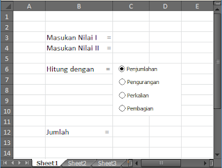 cara 3 Penomoran Dengan OPTION BUTTON pada Excel