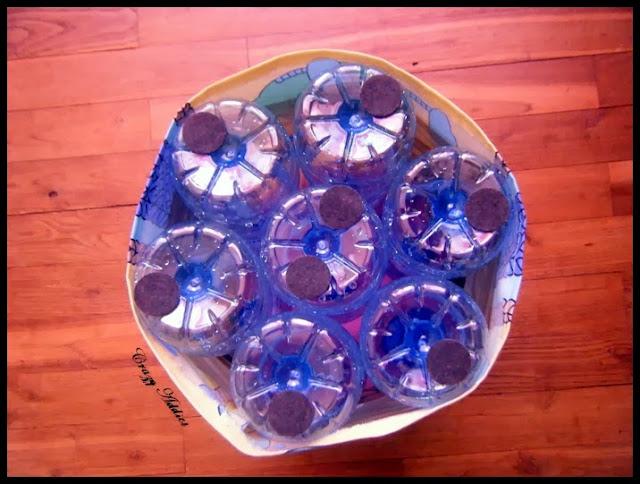 diy r alisez un pouf pour vos bambins en recyclant des bouteilles d 39 eau crazy addict. Black Bedroom Furniture Sets. Home Design Ideas
