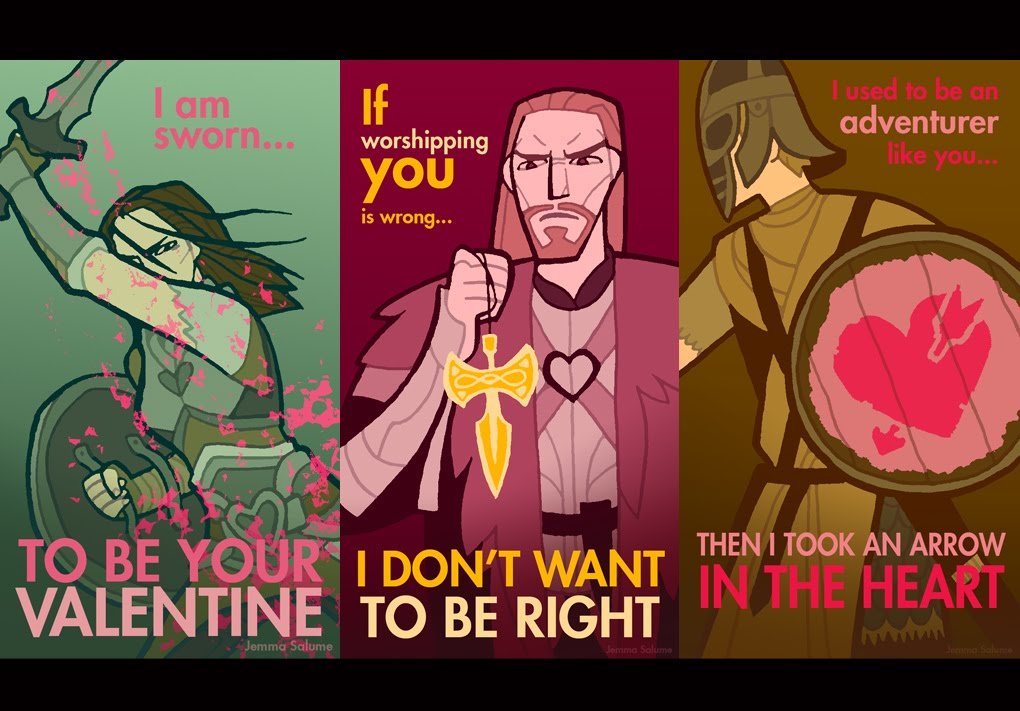 The Daily Zombies Have a Skyrim Valentines Day – Skyrim Valentines Card