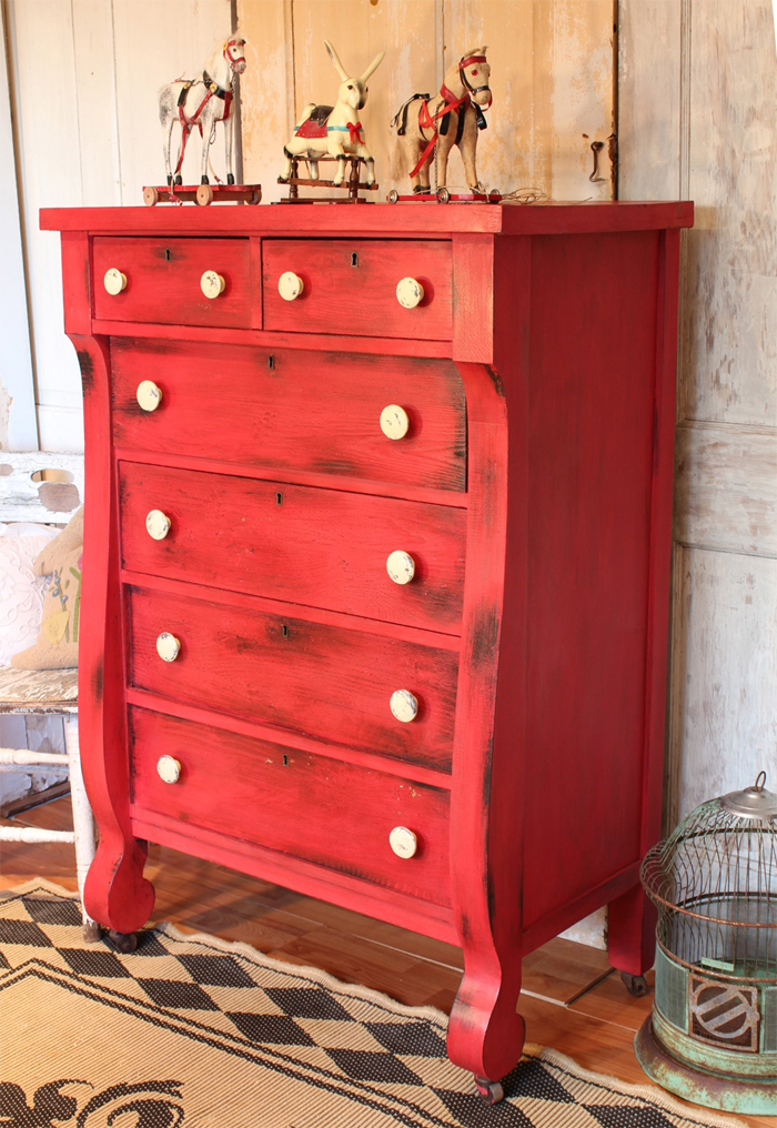 Bad Rabbit Vintage Painted Furniture With Attitude Red