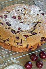Almond and Cherry Black Pepper Cake