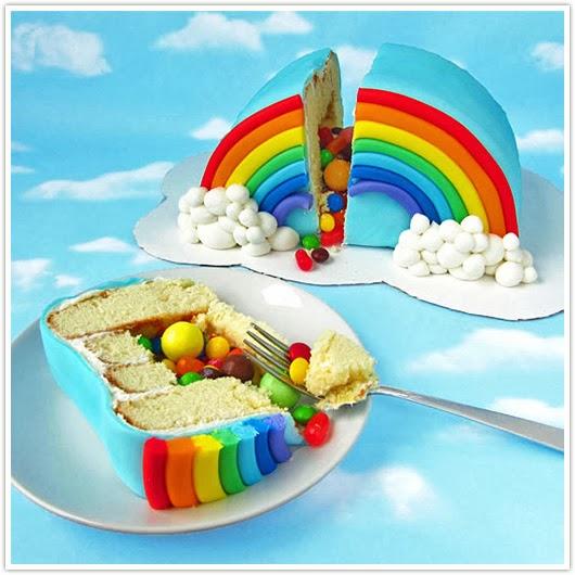 rainbow pinata cake by hungry happenings