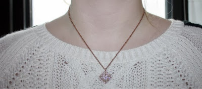 Rose Gold Necklace by Swarvoski, Swarvoski Crystal,