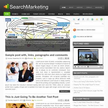 Search Marketing blog template. template image slider blog. magazine blogger template style. wordpress theme to blogger. tutorial blogger template