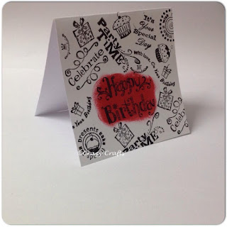 Stamped Birthday card