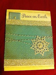 peace on earth handmade card
