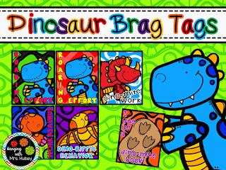 https://www.teacherspayteachers.com/Product/Dinosaur-Brag-Tags-2017651