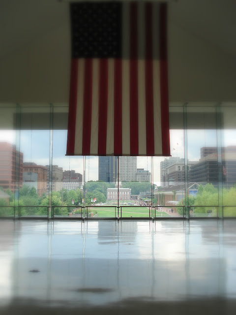 Independence Hall seen from the National Constitution Centre, Philadelphia