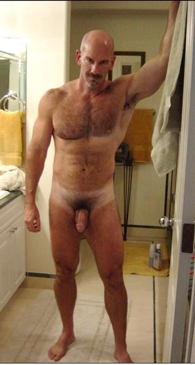 bold men hairy naked